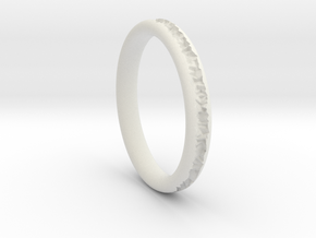 Destroyed ring - Size 9 in White Natural Versatile Plastic