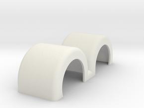 Fenders DoublePartSwept in White Natural Versatile Plastic