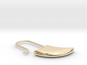 Small drop earring (KB4a) in 14k Gold Plated Brass