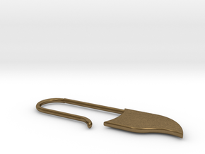 Drop Earring large (KB2b) in Natural Bronze