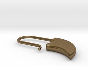 Drop earring medium size(KB1b) in Natural Bronze