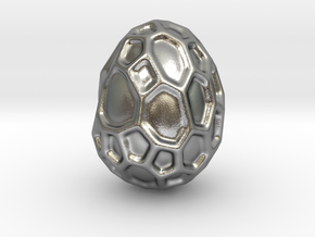 DRAW geo - alien egg in Natural Silver: Small