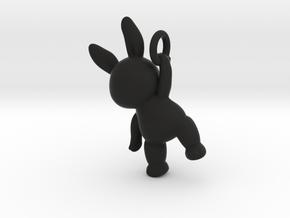 Rabbit Pendant ( 32mm ) in Black Premium Strong & Flexible