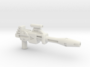 Punky Operative Blaster - Long Barrel in White Natural Versatile Plastic