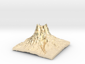 Mountain 3 in 14K Yellow Gold: Small