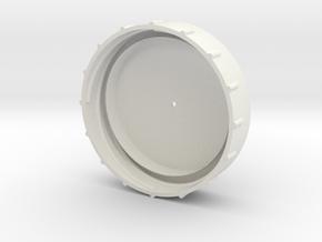 PaintGunCap in White Natural Versatile Plastic