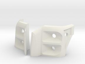 SCX10 Proline F250 Headlight Housing in White Natural Versatile Plastic