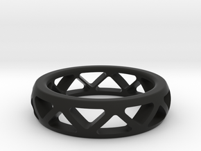 Geometric Ring- size 8 in Black Strong & Flexible: Small
