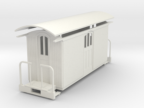 On30 18ft baggage  car in White Natural Versatile Plastic