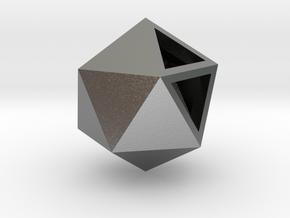 Go Geometric Pendant Icosa in Natural Silver