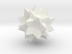 Go Geometric Homeware Star in White Natural Versatile Plastic: Small