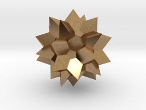 Go Geometric Homeware Star in Natural Brass: Small