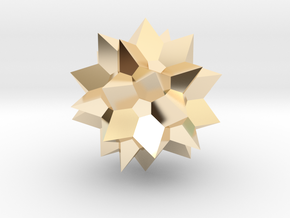 Go Geometric Homeware Star in 14k Gold Plated Brass: Small