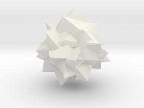 Go Geometric Homeware Mess in White Natural Versatile Plastic: Small