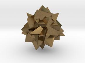 Go Geometric Homeware Mess in Natural Bronze: Small