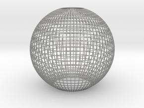 Grid_lampshade_40mm in Aluminum