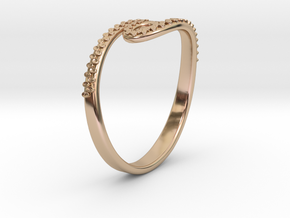 Tentacle Ring in 14k Rose Gold Plated Brass