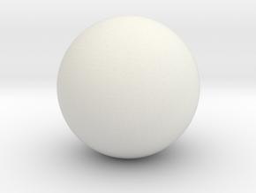 Ball Head for ModiBot in White Natural Versatile Plastic