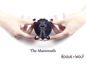 The Mammoth Mini Faux Taxidermy in Black Natural Versatile Plastic