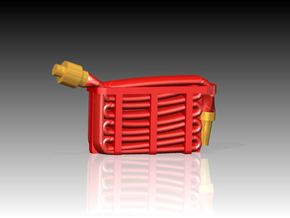 Fire Hose - Flaked x 6 1/87 in Smooth Fine Detail Plastic