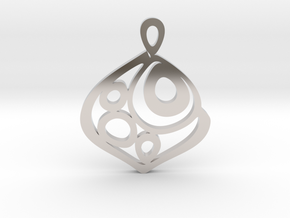 """One becomes three"" Pendant in Rhodium Plated Brass"