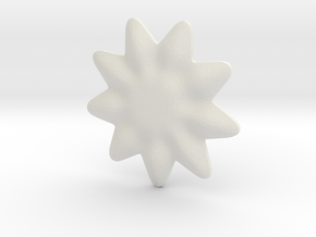 Tiny flower for jewelry making in White Natural Versatile Plastic