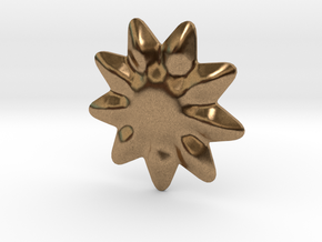 Tiny flower for jewelry making in Natural Brass