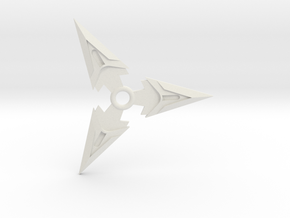 Genji Shuriken in White Natural Versatile Plastic