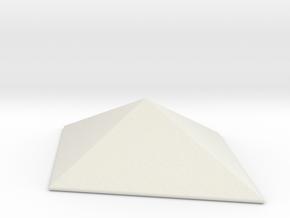 Diamond Pyramid Spike in White Natural Versatile Plastic