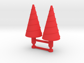 Karza Large Drill Missiles in Red Strong & Flexible Polished