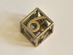 D6 Balanced - Numbers Only in Polished Bronzed Silver Steel