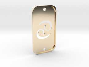 Cancer (The Crab) DogTag V2 in 14K Yellow Gold