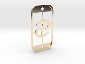 Cancer (The Crab) DogTag V3 in 14K Yellow Gold