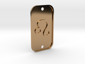 Leo (The Lion) DogTag V1 in Polished Brass