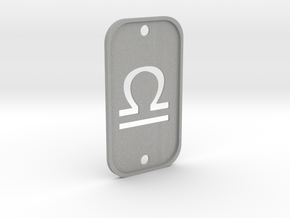 Libra (The Scales) DogTag V2 in Aluminum