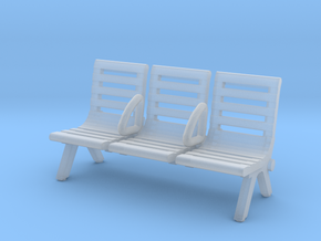 Modern Seat - Type 3 - HO Scale in Smooth Fine Detail Plastic