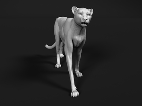 Cheetah 1:48 Walking Male 2 in Smooth Fine Detail Plastic
