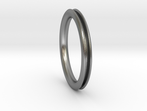 Open pipe ring for DIY  in Natural Silver