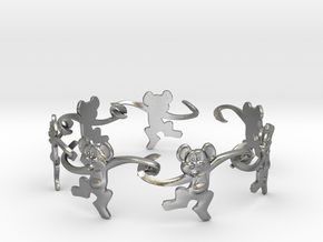 Monkey Band in Natural Silver