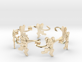 Monkey Band in 14k Gold Plated Brass