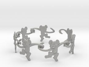 Monkey Band in Aluminum