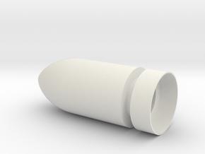 Rounded Bullet Spike in White Natural Versatile Plastic