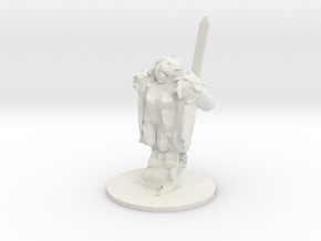 Spirit Warrior in White Natural Versatile Plastic