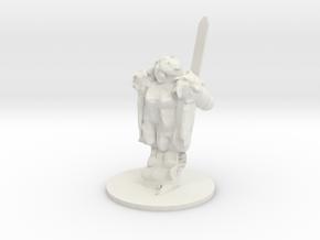 Spirit Warrior in White Natural Versatile Plastic