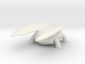 Flying Tortoise in White Natural Versatile Plastic