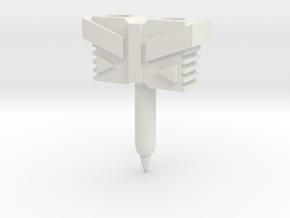 Hammer / Hilt for TR Windblade Swords in White Natural Versatile Plastic