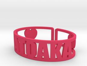 Matoaka Cuff in Pink Strong & Flexible Polished