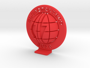 c17-splitGlobe-wRing-003 (smaller) in Red Processed Versatile Plastic