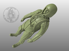 Partial Pressure Suit 1:24 in Smoothest Fine Detail Plastic