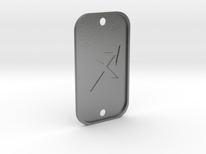 Sagittarius (The Archer) DogTag V4 in Natural Silver